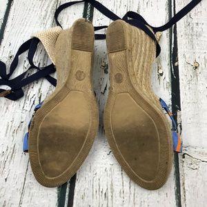 J. Crew Shoes - J. Crew Espadrille Wedge Sandals Ankle Wrap Sz 9